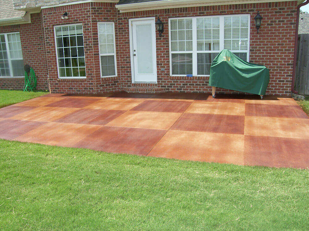 Checkerboard Patio